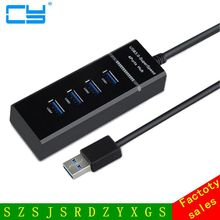 4 Port USB 3 0 Hub Splitter High Speed For Computer Notebook Laptop PC Mac For