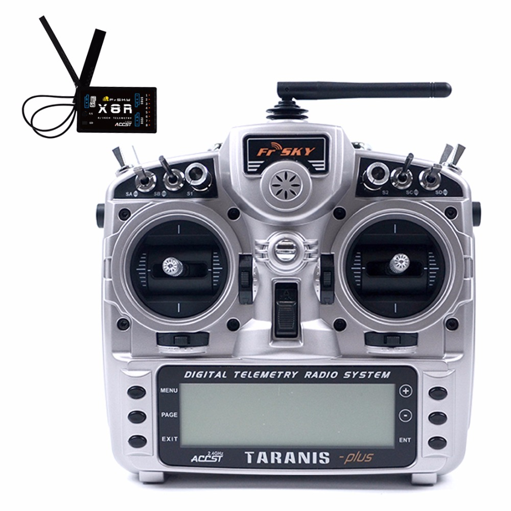FrSky Taranis X9D Plus 2.4G 16CH ACCST Transmitter Remote Controller With X8R Receiver MODE1 / MODE2 For RC Aircraft Quadcopter remote controller 2 4g rc transmitter for mjx x800 hexacopter