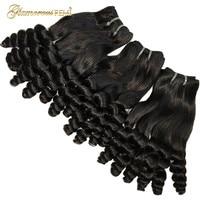 Funmi Hair Bouncy Curly Rose Curl Human Hair Extension Bundles Brazilian Hair Weave Bundles Double Drawn Hair Short Bob Style