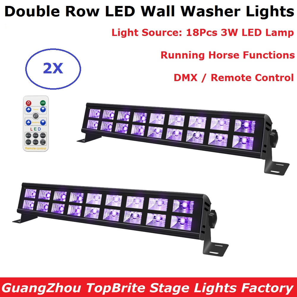 18X3W LED Wall Washer Lights DMX UV Color Stage Lights Black Bar Party Club Disco Lights For Christmas Indoor Stage Effect Light