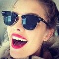 New 17 tendência cor lente de raios óculos de sol de luxo da marca de verão estilo Mulheres Senhoras Óculos de Sol do Aviador Dos Homens Rodada Shades UV400 Oculos