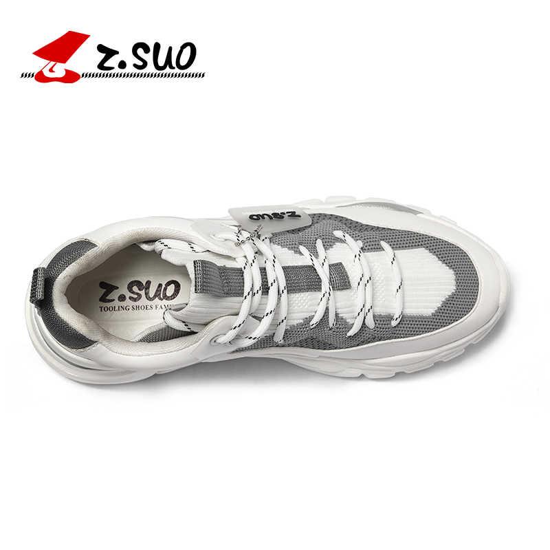 Z. SUO/Мужская обувь; дышащая мужская повседневная обувь с низким вырезом; обувь для отдыха на шнуровке в классическом стиле; мужские кроссовки