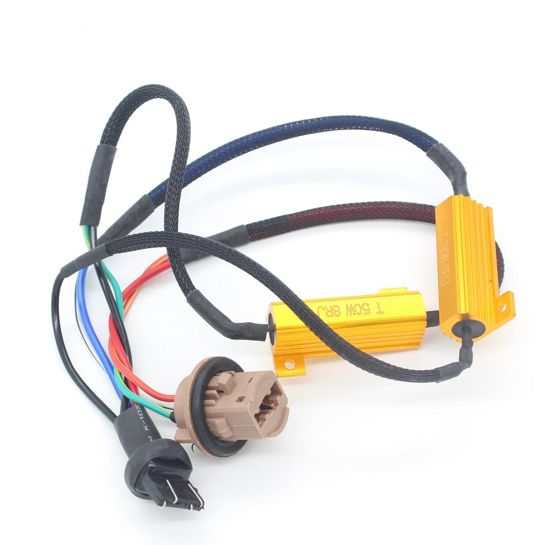 car led brake lights singal load resistor led bulb fast hyper flash rh aliexpress com