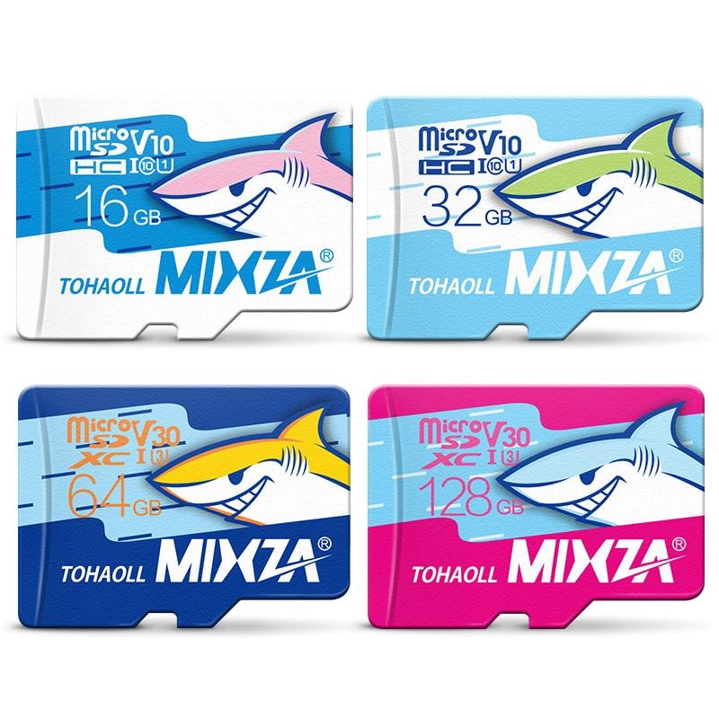 MIXZA Shark edition memory card 256GB 128GB 64GB UHS-3 80MB/S 32GB 16GB USH-1micro sd card class10 flash card Memory microsd