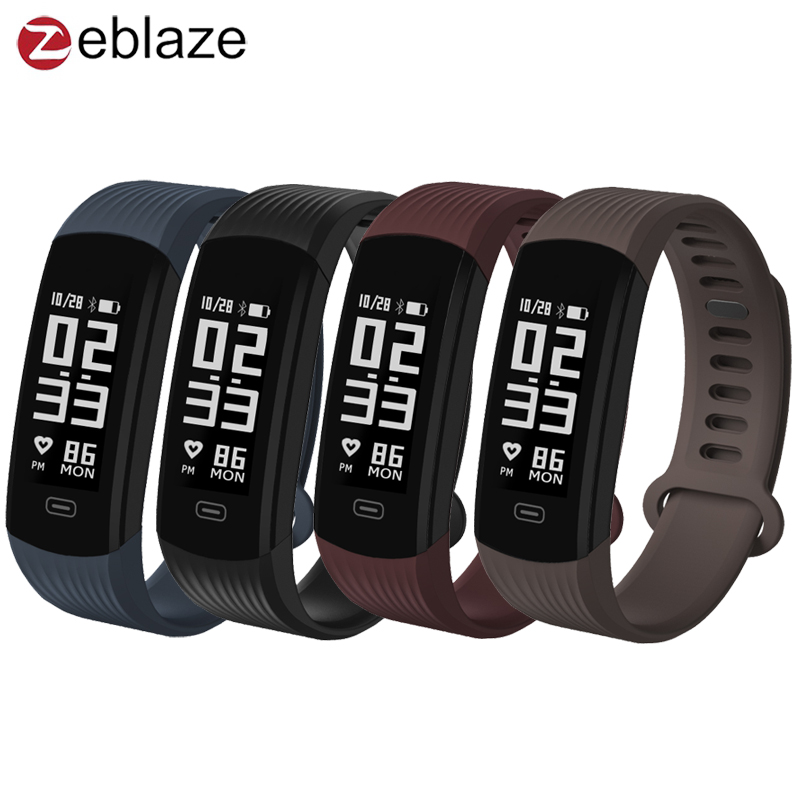 Zeblaze Plug Real-time Heart Rate Sleep Monitor Wristband All-day Activity Tracker Smart Watch VS Mi Band 2 for IOS Android