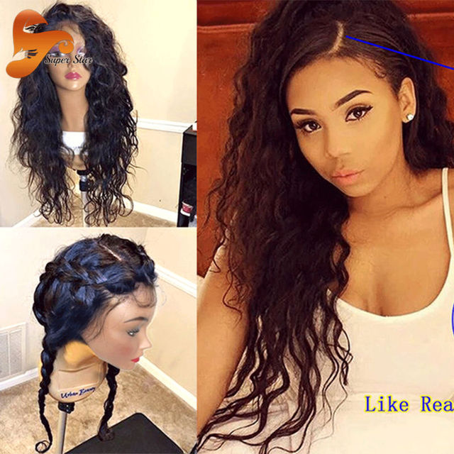 Wet Wavy Silk Top Glueless Full Lace Human Hair Wigs For Black Women Virgin Silk Base Full Lace Front Wig Wavy Lace Frontal Wig