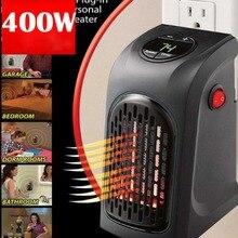 400W Electric Heater Mini Fan Heater Blower Desktop Household Wall Plug Heater Stove Radiator Fast Handy Warmer Machine
