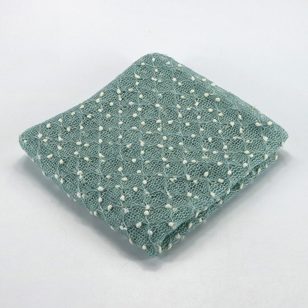 75*50cm Knit Bobble Wraps Mini Small Ball Vintage Style Newborn Photography Props Swaddlings Padding Nubble Wraps