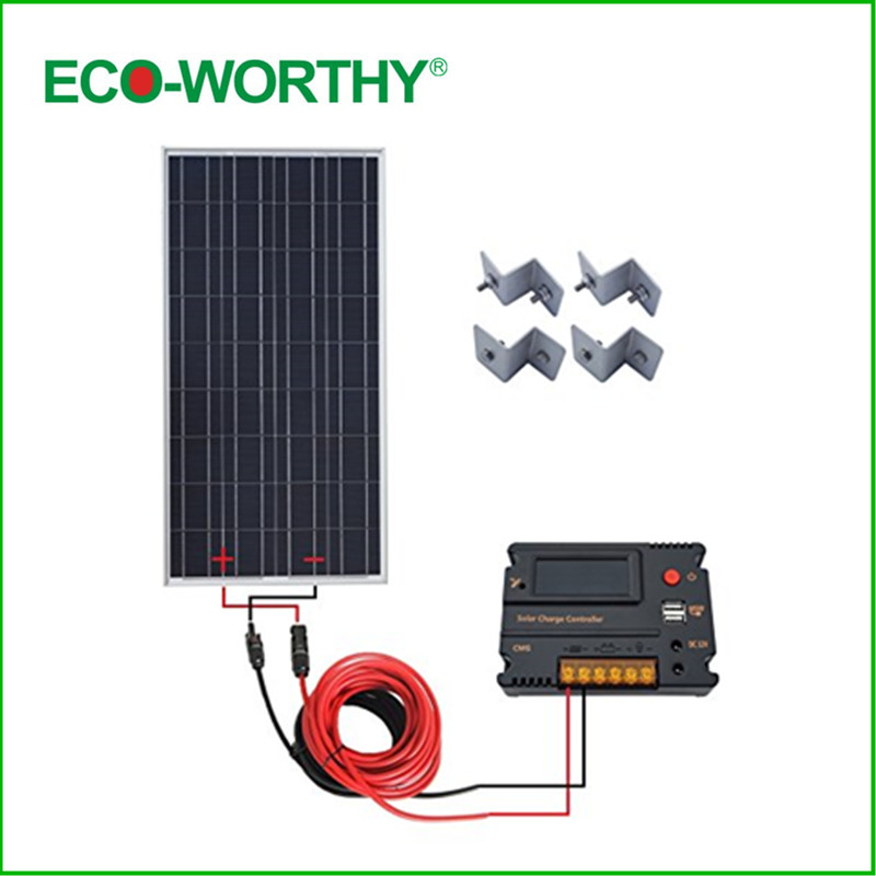 Usa Uk Stock New 100w 12v Solar Panel With 20a Cmg