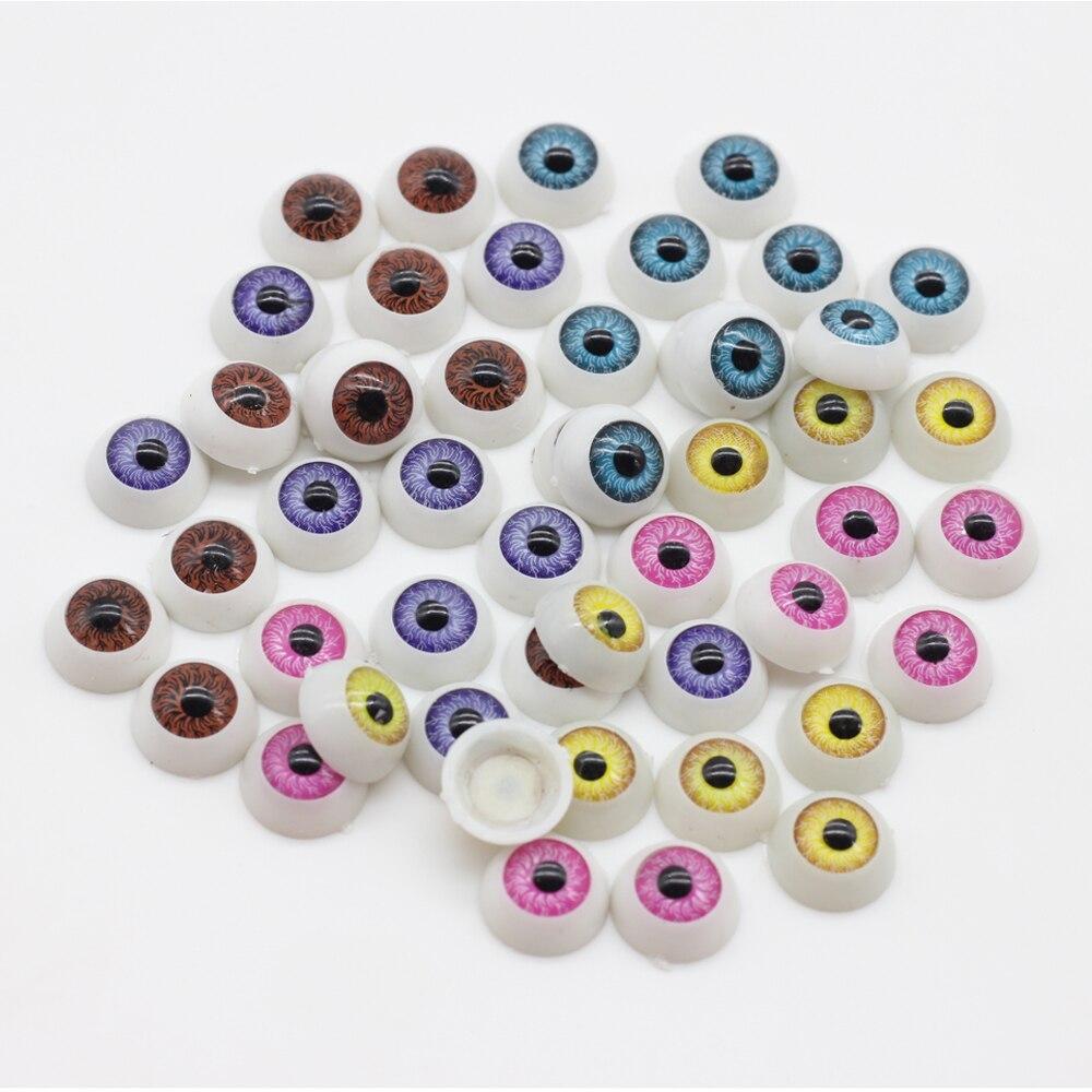 10 шт./лот 12 мм Кукла Глаза Круглые Акриловые Глаза для DIY Куклы Медведь Ремесла Mix Цвет Пластиковые Куклы Глазного Яблока es013