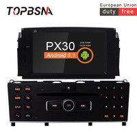 TOPBSNA 1 Din Car DVD Player Android 8.1 For Mercedes Benz C200 C180 W204 2007 2010 WIFI Car Multimedia Player GPS Navi USB TMPS
