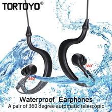 TORTOYO Professional Waterproof Sports Wired Earphone 3.5mm In Ear Hook Stereo Headphone