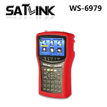 Satlink WS-6979 DVB-S2  DVB-T2 Combo 6979 digital satellite finder meter Spectrum analyzer  free shipping
