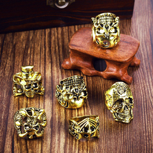 MIXMAX 5pcs skull ring men Gold silver big metal alloy rock cool punk women Skeleton rings male Vintage jewelry for party gift vintage silver black tibetan punk rings glod round ring retro rock punk vampire skull ring men fashion jewelry