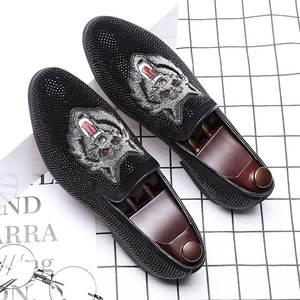 new arrivals 51faa c85cb ZCHEKHEN Black Men Loafers Casual Shoes Dress Moccasins