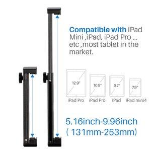 Image 3 - Trípode para tableta, liberación rápida con placa de soporte de aluminio para iPad Mini/4/Pro/Surface Pro 8 DJA99