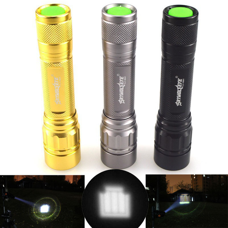 Tactical Zoomable 1800 Lumen CREE XML Q5 LED 18650 Flashlight Focus Torch Zoom Lamp Light 3 Mode Free Shipping