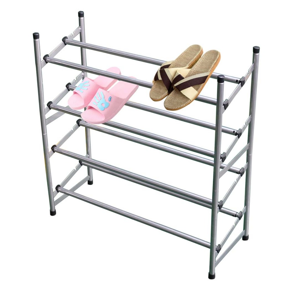 HLC Stackable 4 Tiers Metal Utility Shoe Rack for Adults and Children  detachable and convenient rack gastrorag hlc 600
