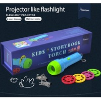 Children Educational Cute Funny Bedtime Kids Story Flashlight Portable Torch Interactive Handheld Projector