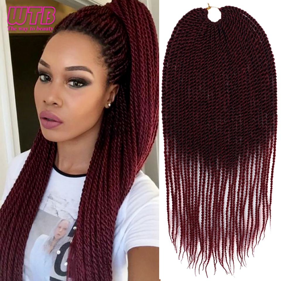 WTB 30 Strands/pack Senegalese Twist Crochet Braids Black ...