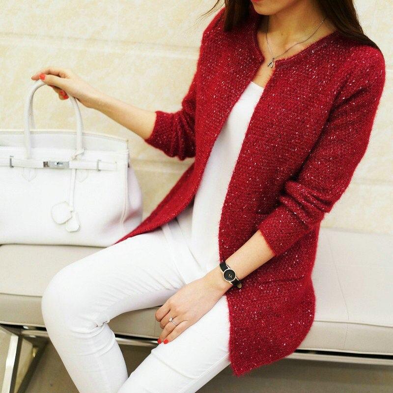 5a74d1763debf Dropwow Autumn Winter Women Casual Long Sleeve Knitted Cardigans ...