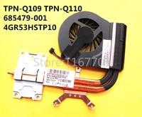 Original Laptop/Notebook CPU Cooling heatsink/Fan Radiator for HP G4 2000 G6 2000 G7 2000 TPN Q109 Q110 685479 001 4GR53HSTP10