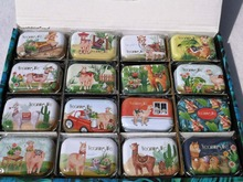 1pc new colorful mini cartoon alpaca sailboat print tin box sealed jar packing boxes jewelry candy box small storage boxes ttlife colorful mini tinplate metal box sealed jar packing boxes jewelry candy box small storage cans coin earrings gift box new