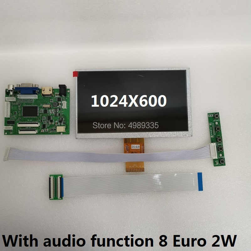 مجموعة وحدة لوحة عرض 7 بوصة HDMI VGA AV1 av2TN شاشة 1024X600