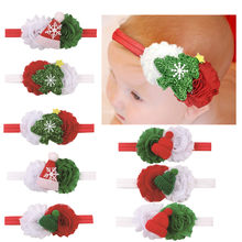 New Baby Chirstmas Flower Headband accessories Newborn Infant Toddlers red white flower headwear Photography props foe headband(China)
