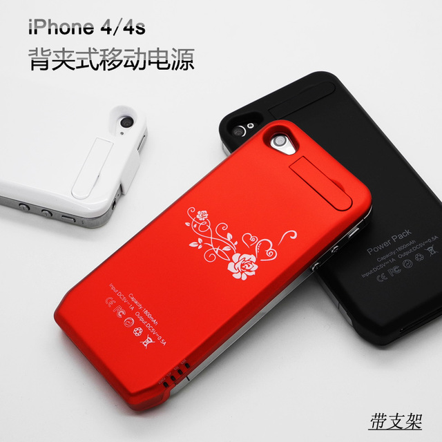 For apple    for iphone   4s clip battery phone case ipone 4s mobile power external portable charge treasure