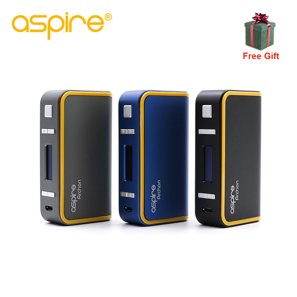 Free gift Aspire Archon 150W TC Mod powered by 2pcs 18650 battery features Customizable Firing Button