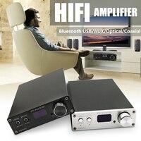 FX-Audio D802C полный цифровой аудио bluetooth усилители домашние вход USB/RCA/оптический/коаксиальный вход 24Bit/192 кГц 80 Вт * 2 + ЕС адаптеры питания