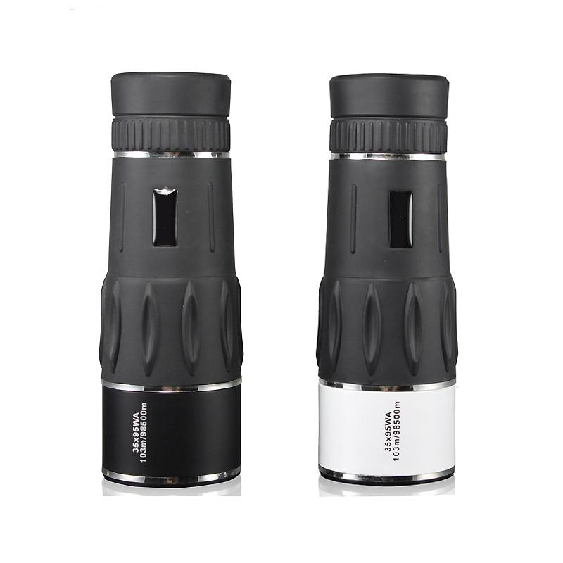 Portable 35x95 Monocular Telescope HD Waterproof lll Night Vision Monoculars Outdoor Camping Hunting Bird-watching Telescopes