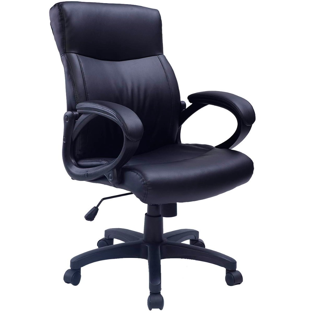 Lift Armchair Costway Pu Leather Ergonomic Office Chair Armchair Executive Chair Boss Lift Chair Swivel Chair