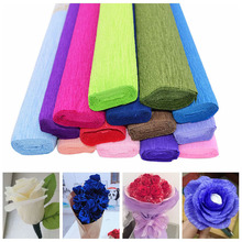 50250cm diy artificial flowers bouquet wrapping crepe paper rolls crafts wedding decoration baby shower garland diy craft