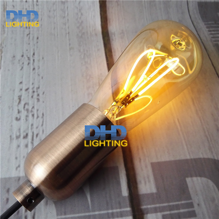 Free ship Vintage led edison filament bulb ST64 e27 led dimmable light 220v energy saving lamp spiral filament LED edison lamp 50pcs 6w e27 b22 led bulb st64 retro vintage edison led filament glass light lamp warm white energy saving lamps light ac220v
