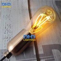 Free ship Vintage led edison filament bulb ST64 e27 led dimmable light 220v energy saving lamp spiral filament LED edison lamp
