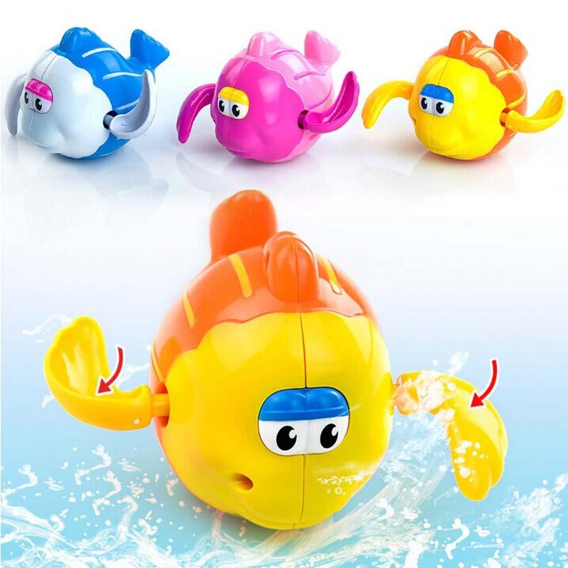 2018 Baby Bath Toy Pool Swimming Toys Animals Stacking Game Children Kids Bathing Tub Water Spraying Tool Toy Gifts