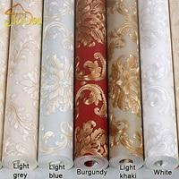 European Luxury Damascus Wallpaper PVC Waterproof Home Decor Warm Bedroom Living Room Sofa TV Background Wallpaper