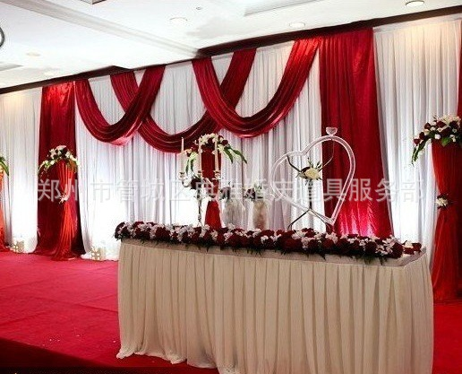 10ft*20ft ice silk Wedding Backdrop Curtain With Swags gold drape Luxury Wedding Props Satin Drape curtain party decoration10ft*20ft ice silk Wedding Backdrop Curtain With Swags gold drape Luxury Wedding Props Satin Drape curtain party decoration