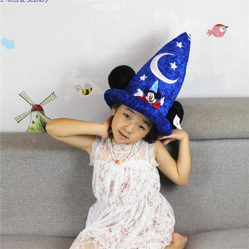 16cm*36cm Mickey Mouse Magician Hat Stuffed plush Toys High quality Fantasia Magic Hat Plush Boy Toy For Birthday Gift