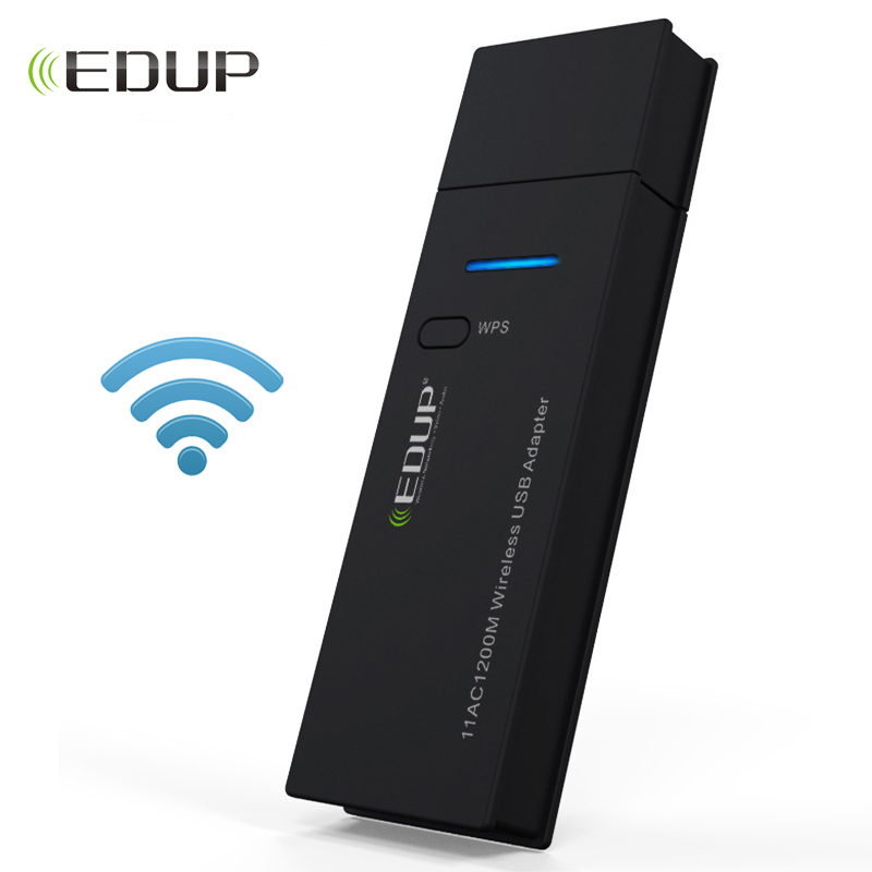 EDUP mini USB wifi adapter 1200mbps 802.11ac High speed 5ghz wi-fi wireless network card dual band PC wifi receiver adaptador edup ep ac1601 mini 802 11ac wifi dongle wifi usb 3 0 adapter 1200mbps 2 4ghz 5 8ghz dual bands network card white