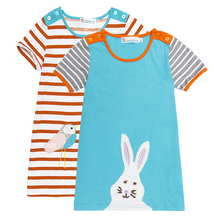 100%cotton girls dress flower pattern toddler girl dresses child costumes for summer short sleeve cotton