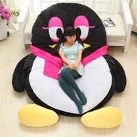 Роскошные современные мультфильм Пингвин большие напольные подушки Dome Декор Подушка большой открытый диванные подушки Pad украшения кроват