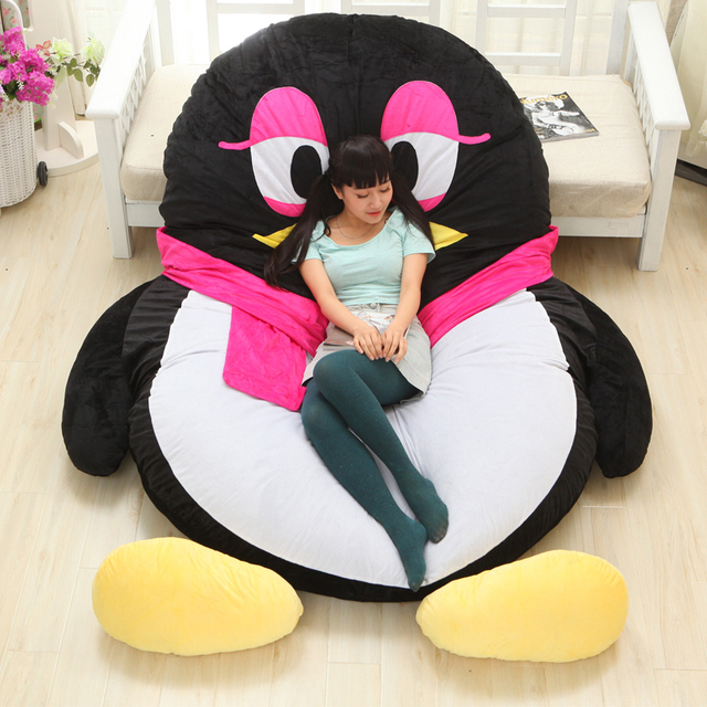 Luxury Modern Cartoon Penguin Large Floor Cushion Dome Decor Pillow Big  Outdoor Chair Cushions Pad Decoration