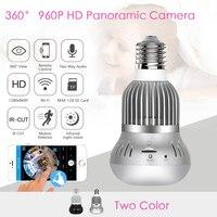 3D VR Camera 960P 360 Degree Bulb Light Wireless IP Camera Wi Fi FishEye CCTV Security