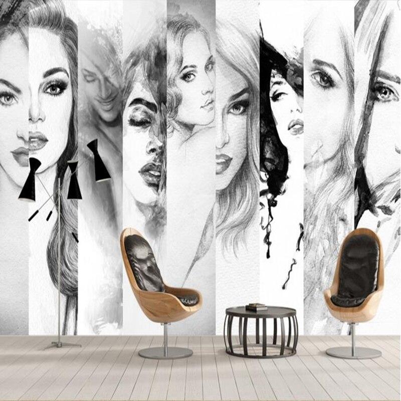 Bedroom Wallpaper Designs Black And White Bedroom Furniture For Teenagers Bedroom Door Curtains Diy Kids Bedroom Decor: Hot Wallpaper Black And White Wallpaper Beauty Model