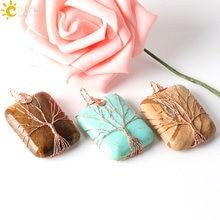 Handmade Jewellery  India Life Tree Lover Reiki Semi Precious Gem Stone Pendants