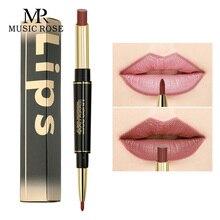 MUSIC ROSE Lipstick Matte Long Lasting Lip Line Makeup Beauty Women Sexy Easy To Wear Waterproof Gift