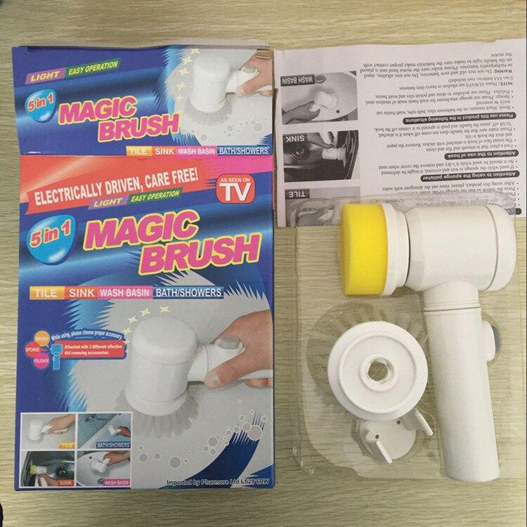 VILEAD Magia Nylon Cepillo Bañera Eléctrica Mult ifunctional Herramientas 5 en 1